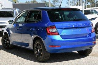 2021 Skoda Fabia NJ MY21 81TSI DSG Run-Out Edition Blue 7 Speed Sports Automatic Dual Clutch.