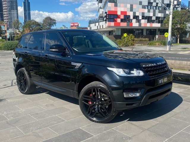 Used Land Rover Range Rover Sport L494 MY15 SDV8 HSE Dynamic South Melbourne, 2014 Land Rover Range Rover Sport L494 MY15 SDV8 HSE Dynamic Black 8 Speed Sports Automatic Wagon