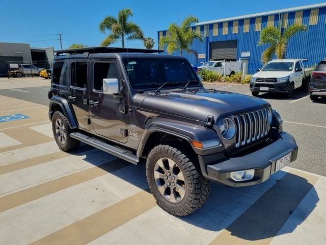 Pre-Owned Jeep Wrangler Unlimited JK MY18 Overland (4x4) Gladstone, 2018 Jeep Wrangler Unlimited JK MY18 Overland (4x4) Grey 5 Speed Automatic Hardtop