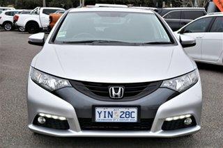 2013 Honda Civic 9th Gen MY13 VTi-L Alabaster Silver 5 Speed Sports Automatic Hatchback.