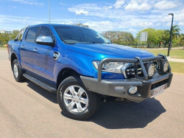 Used Ford Ranger PX MkIII 2019.00MY XLT Townsville, 2018 Ford Ranger PX MkIII 2019.00MY XLT Lightning Blue 6 Speed Manual Utility