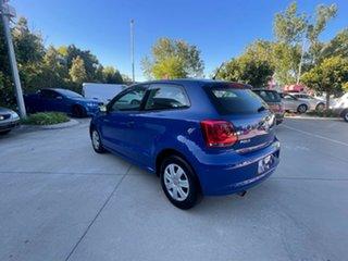 2010 Volkswagen Polo 6R Trendline DSG Blue 7 Speed Sports Automatic Dual Clutch Hatchback
