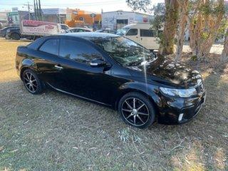 2010 Kia Cerato TD MY10 Koup Black 4 Speed Sports Automatic Coupe