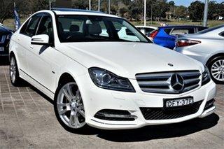 2012 Mercedes-Benz C-Class W204 MY12 C250 BlueEFFICIENCY 7G-Tronic + Avantgarde White 7 Speed.