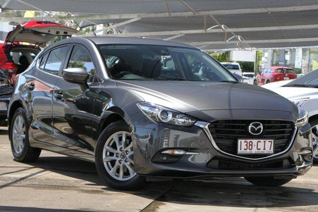 Used Mazda 3 BN5478 Maxx SKYACTIV-Drive Bundamba, 2017 Mazda 3 BN5478 Maxx SKYACTIV-Drive Machine Grey 6 Speed Sports Automatic Hatchback