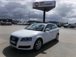 2009 Audi A3 8P MY09 TFSI Sportback S Tronic Ambition White 7 Speed Sports Automatic Dual Clutch