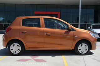 2016 Mitsubishi Mirage LA MY15 ES Burnt Orange 5 Speed Manual Hatchback.