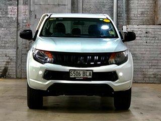 2016 Mitsubishi Triton MQ MY17 GLX Double Cab White 6 Speed Manual Cab Chassis.