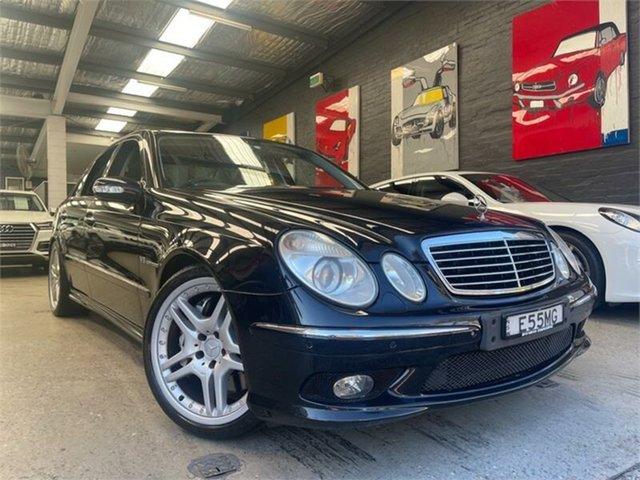 Used Mercedes-Benz E-Class W211 E55 AMG Glebe, 2004 Mercedes-Benz E-Class W211 E55 AMG Obsidian Black Sports Automatic Sedan