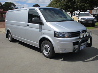 2010 Volkswagen Transporter T5 MY10 TDI LWB Silver 6 Speed Automatic Van.