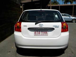 2002 Toyota Corolla ZZE122R Ascent White 4 Speed Automatic Hatchback