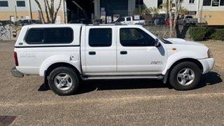 2012 Nissan Navara D22 Series 5 ST-R (4x4) White 5 Speed Manual Dual Cab Pick-up.