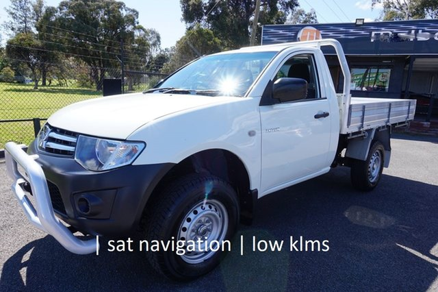 Used Mitsubishi Triton MN MY15 GL 4x2 Dandenong, 2014 Mitsubishi Triton MN MY15 GL 4x2 White 5 Speed Manual Cab Chassis