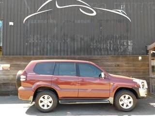 2005 Toyota Landcruiser Prado GRJ120R GXL Red 5 Speed Automatic Wagon.