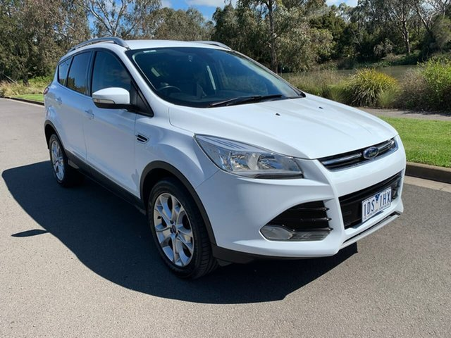Used Ford Kuga TF Trend Geelong, 2013 Ford Kuga TF Trend White Sports Automatic Wagon