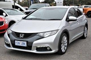 2013 Honda Civic 9th Gen MY13 VTi-L Alabaster Silver 5 Speed Sports Automatic Hatchback