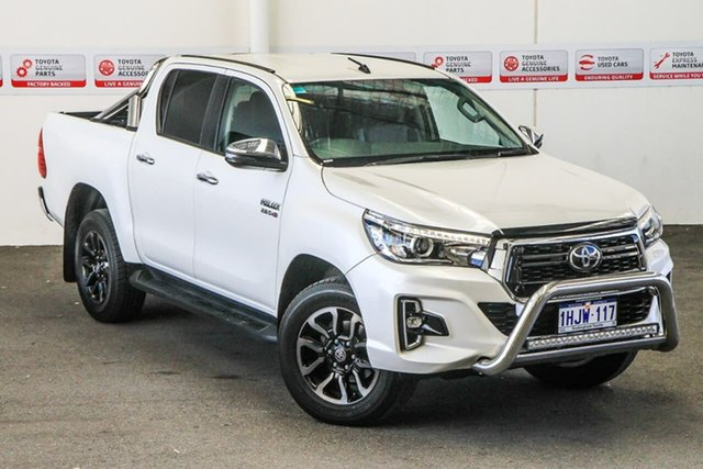 Pre-Owned Toyota Hilux GUN126R SR5 Double Cab Rockingham, 2019 Toyota Hilux GUN126R SR5 Double Cab Crystal Pearl 6 Speed Sports Automatic Utility