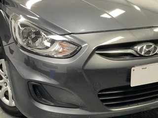 2012 Hyundai Accent RB Active Carbon Grey 4 Speed Sports Automatic Hatchback.