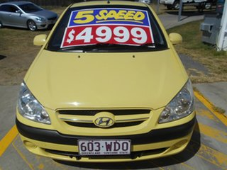 2008 Hyundai Getz TB MY09 S Yellow 5 Speed Manual Hatchback.