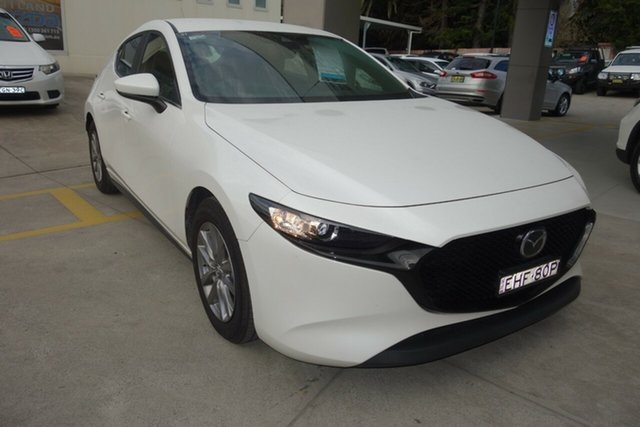 Used Mazda 3 BP2H7A G20 SKYACTIV-Drive Pure East Maitland, 2020 Mazda 3 BP2H7A G20 SKYACTIV-Drive Pure White 6 Speed Sports Automatic Hatchback