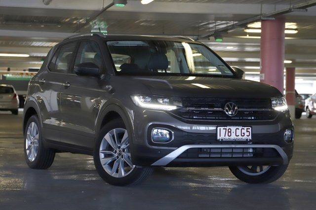 Demo Volkswagen T-Cross C1 MY21 85TSI DSG FWD Style Indooroopilly, 2021 Volkswagen T-Cross C1 MY21 85TSI DSG FWD Style Limestone Grey 7 Speed