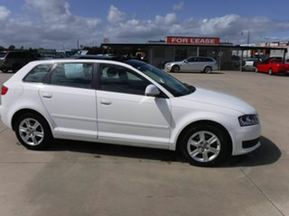 2009 Audi A3 8P MY09 TFSI Sportback S Tronic Ambition White 7 Speed Sports Automatic Dual Clutch.