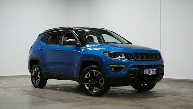Used Jeep Compass M6 MY18 Trailhawk Welshpool, 2018 Jeep Compass M6 MY18 Trailhawk Blue 9 Speed Automatic Wagon