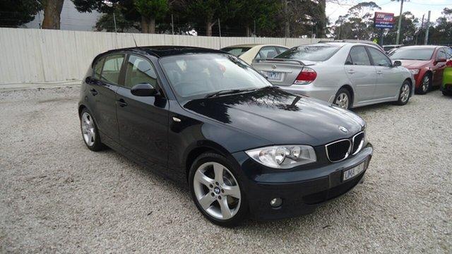 Used BMW 118i E87 118i Seaford, 2006 BMW 118i E87 118i Blue 6 Speed Automatic Hatchback