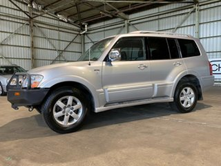 2005 Mitsubishi Pajero NP MY05 Exceed Silver 5 Speed Sports Automatic Wagon.