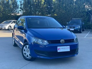 2010 Volkswagen Polo 6R Trendline DSG Blue 7 Speed Sports Automatic Dual Clutch Hatchback.
