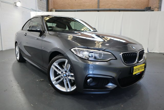 Used BMW 2 Series F22 220i M Sport Castle Hill, 2015 BMW 2 Series F22 220i M Sport Grey 8 Speed Sports Automatic Coupe