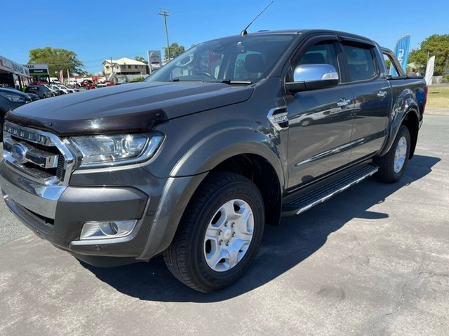 Used Ford Ranger PX MkII 2018.00MY XLT Double Cab Gympie, 2018 Ford Ranger PX MkII 2018.00MY XLT Double Cab Grey 6 Speed Sports Automatic Utility