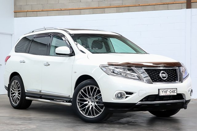 Used Nissan Pathfinder R52 Series II MY17 ST-L X-tronic 2WD Erina, 2017 Nissan Pathfinder R52 Series II MY17 ST-L X-tronic 2WD White 1 Speed Constant Variable Wagon