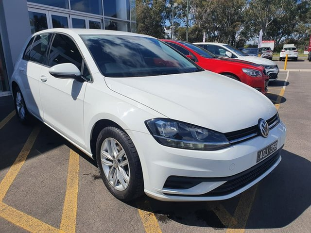 Used Volkswagen Golf 7.5 MY18 110TSI DSG Epsom, 2017 Volkswagen Golf 7.5 MY18 110TSI DSG White 7 Speed Sports Automatic Dual Clutch Hatchback