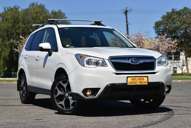 Used Subaru Forester S4 MY15 2.0D-S CVT AWD Enfield, 2015 Subaru Forester S4 MY15 2.0D-S CVT AWD White 7 Speed Constant Variable Wagon