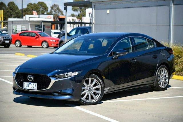 Used Mazda 3 BP2S7A G20 SKYACTIV-Drive Touring Pakenham, 2019 Mazda 3 BP2S7A G20 SKYACTIV-Drive Touring Blue 6 Speed Sports Automatic Sedan