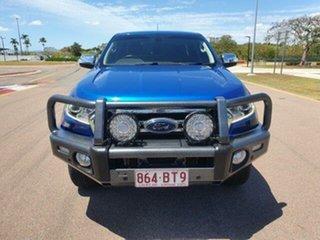 2018 Ford Ranger PX MkIII 2019.00MY XLT Lightning Blue 6 Speed Manual Utility.