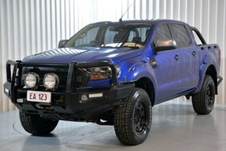 2016 Ford Ranger PX MkII XLS Double Cab Blue 6 Speed Manual Utility.