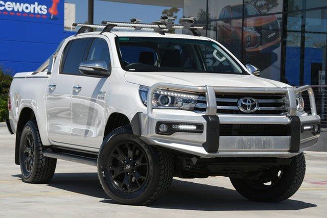 Used Toyota Hilux GUN126R SR5 Double Cab Aspley, 2016 Toyota Hilux GUN126R SR5 Double Cab White 6 Speed Sports Automatic Utility