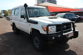 2017 Toyota Landcruiser VDJ78R Workmate Troopcarrier French Vanilla 5 Speed Manual Wagon.