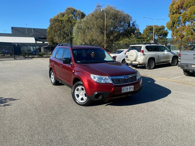 Used Subaru Forester S3 MY09 X AWD Mile End, 2008 Subaru Forester S3 MY09 X AWD Burgundy 5 Speed Manual Wagon