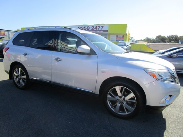 Used Nissan Pathfinder R52 MY14 Ti X-tronic 4WD Kedron, 2013 Nissan Pathfinder R52 MY14 Ti X-tronic 4WD Silver 1 Speed Constant Variable Wagon
