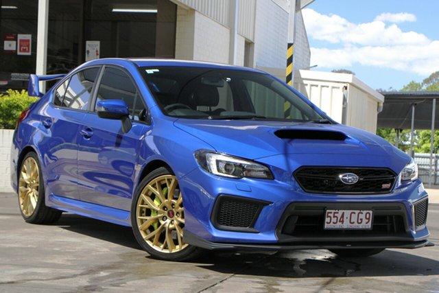 Used Subaru WRX V1 MY19 STI AWD Bundamba, 2018 Subaru WRX V1 MY19 STI AWD Blue 6 Speed Manual Sedan