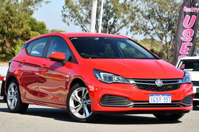Used Holden Astra BK MY18.5 RS Clarkson, 2018 Holden Astra BK MY18.5 RS Red 6 Speed Sports Automatic Hatchback
