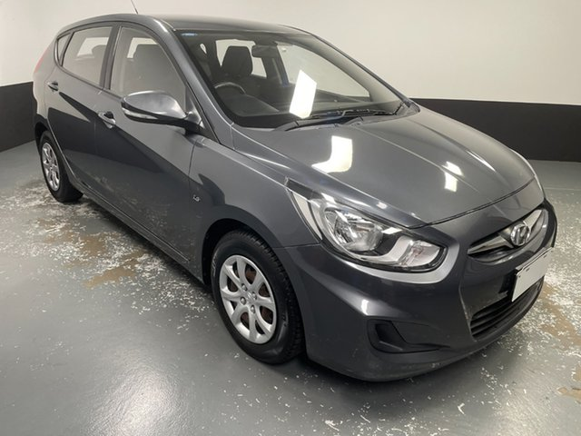 Used Hyundai Accent RB Active Cardiff, 2012 Hyundai Accent RB Active Carbon Grey 4 Speed Sports Automatic Hatchback