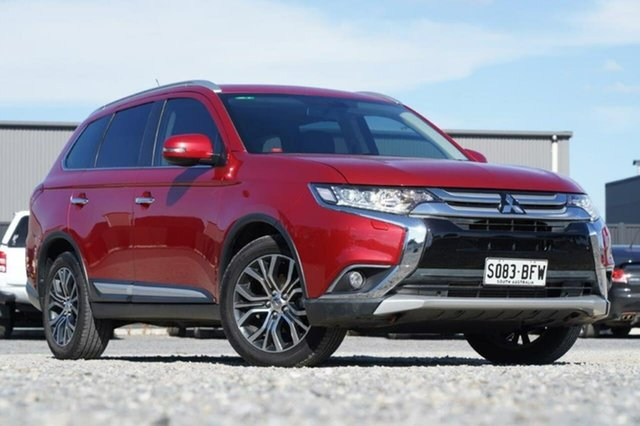Used Mitsubishi Outlander ZK MY16 Exceed 4WD Clare, 2015 Mitsubishi Outlander ZK MY16 Exceed 4WD Red 6 Speed Sports Automatic Wagon