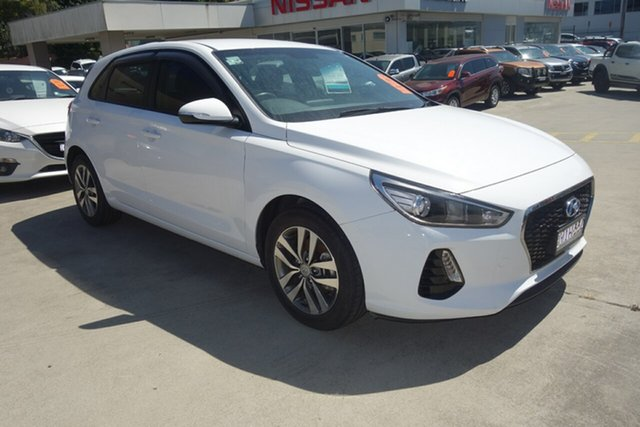Used Hyundai i30 PD MY18 Active East Maitland, 2018 Hyundai i30 PD MY18 Active White 6 Speed Sports Automatic Hatchback