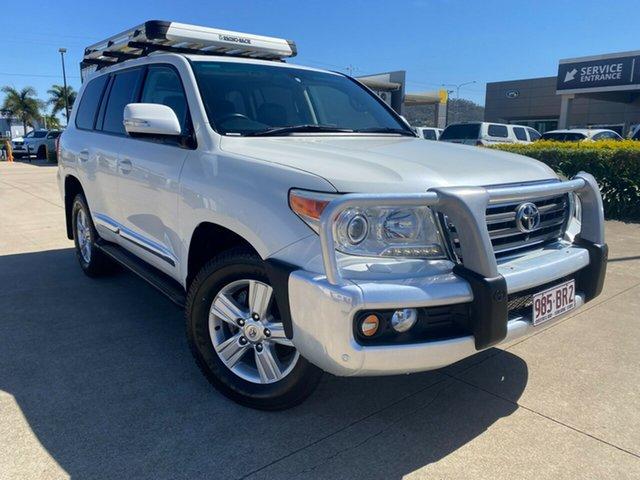 Used Toyota Landcruiser VDJ200R MY12 Sahara Townsville, 2012 Toyota Landcruiser VDJ200R MY12 Sahara White/080213 6 Speed Sports Automatic Wagon