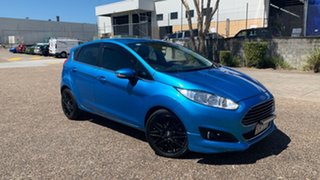 2014 Ford Fiesta WZ Sport Blue 6 Speed Automatic Hatchback.