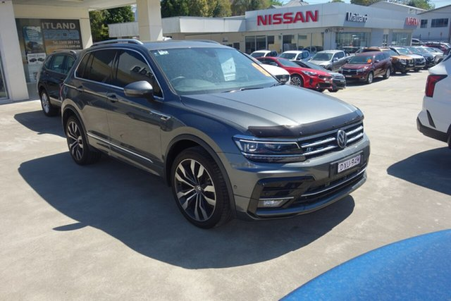 Used Volkswagen Tiguan 5N MY19 162TSI DSG 4MOTION Highline East Maitland, 2018 Volkswagen Tiguan 5N MY19 162TSI DSG 4MOTION Highline Grey 7 Speed Sports Automatic Dual Clutch
